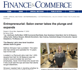 Finance & Commerce Article Sept 2012
