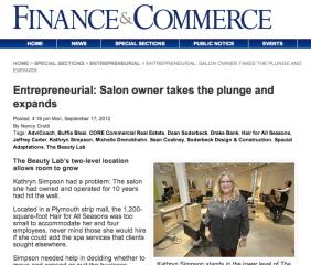 Finance & Commerce Article Sept 2012